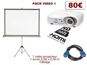 Permalink to:Pack vidéo-projection 1, conférence, mariage, scolaire