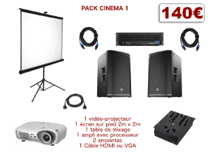 location video-projecteur et sonorisation home cinema