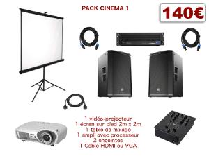 location video-projecteur et sonorisation home cinema