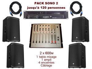 Comprenant 1 Table De Mixage, 1 Ampli, 4 Enceintes X 300 W, Câblage. Montpellier, Lodeve, Gignac, Millau, Béziers. Livraison et installation sur demande.