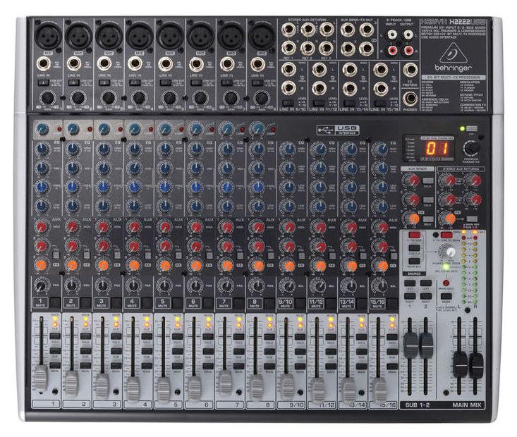 Location table de mixage pour conférence, groupe de musique. 8 entrées micros et 4 entrées ligne stéréo. Effet intégré