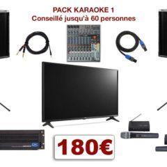 Location Pack Karaoké avec téléviseur grand écran, micros, mixage, sonorisation avec livraison et installation.
