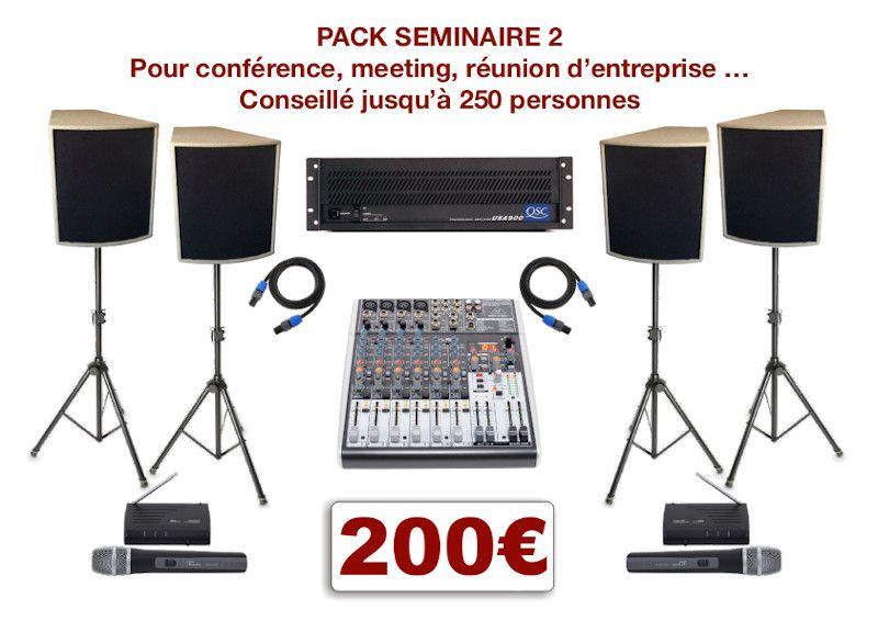Location matériel pour conférence à Montpellier et environs. Vidéo-projecteurs, sonorisation, micro HF. Console de mixage 4 micros H-F et 2 entrées ligne stéréo.