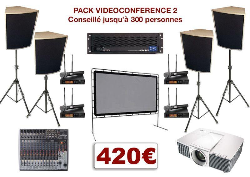 Location matériel pour conférence à Montpellier et environs. Vidéo-projecteurs, sonorisation, micro HF. Console de mixage jusqu'à 4 micros et 2 entrées ligne stéréo.